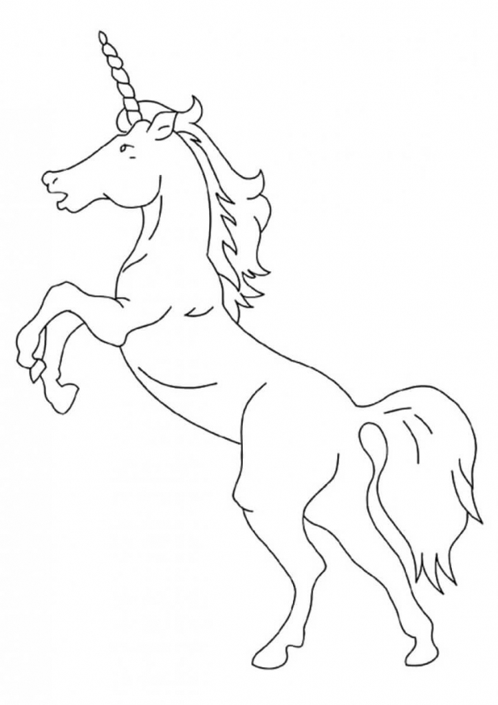 American Unicorn coloring page