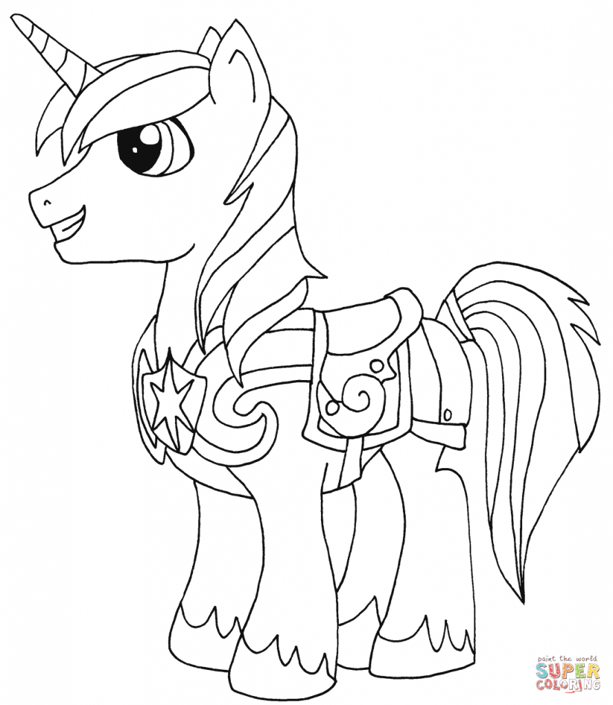 Shining armor My Little Pony coloring page