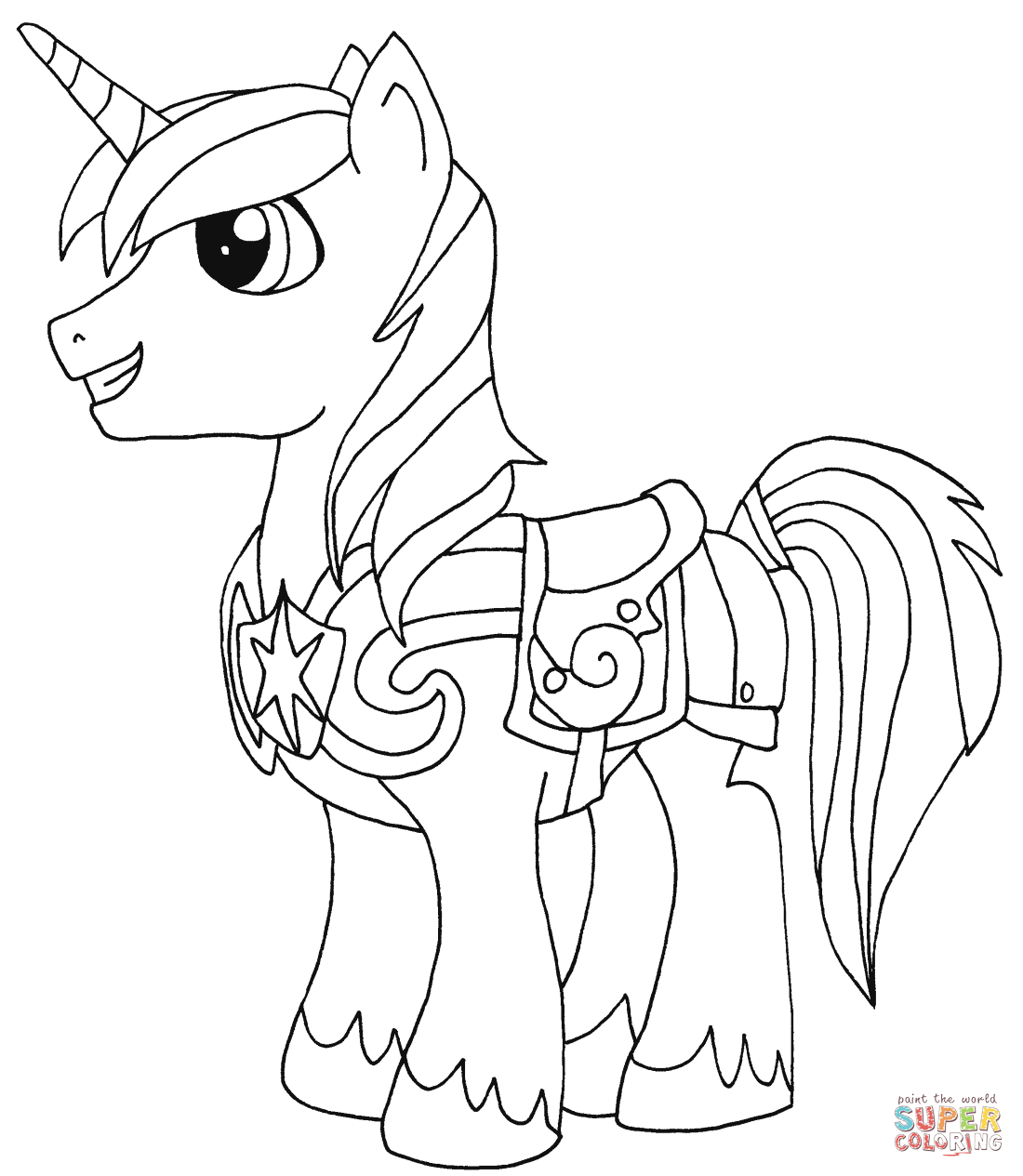 Shining armor coloring page