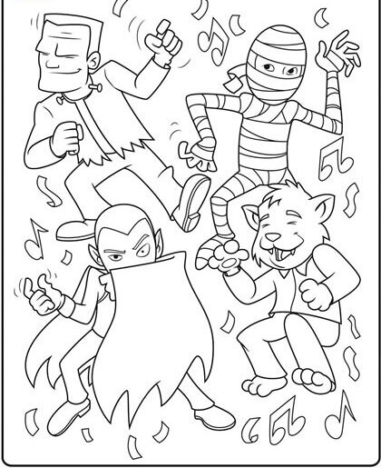 Mummy Halloween Coloring Pages
