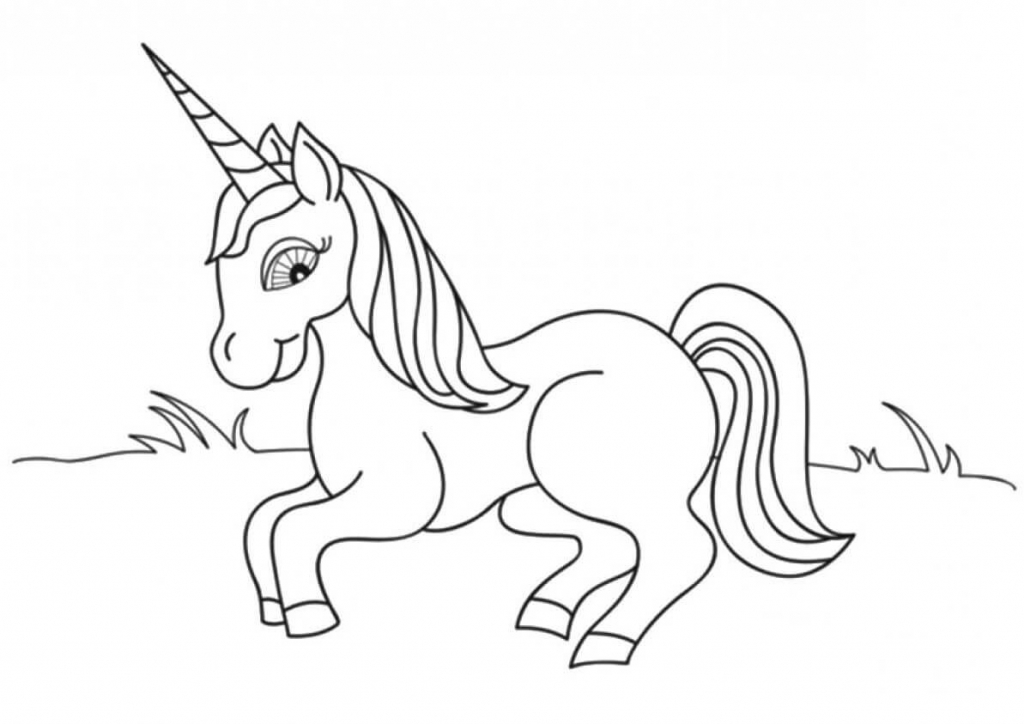 Physiologus Unicorn coloring page