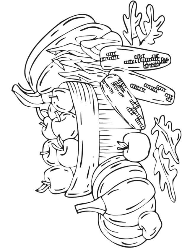 Autumn Harvest Coloring Pages