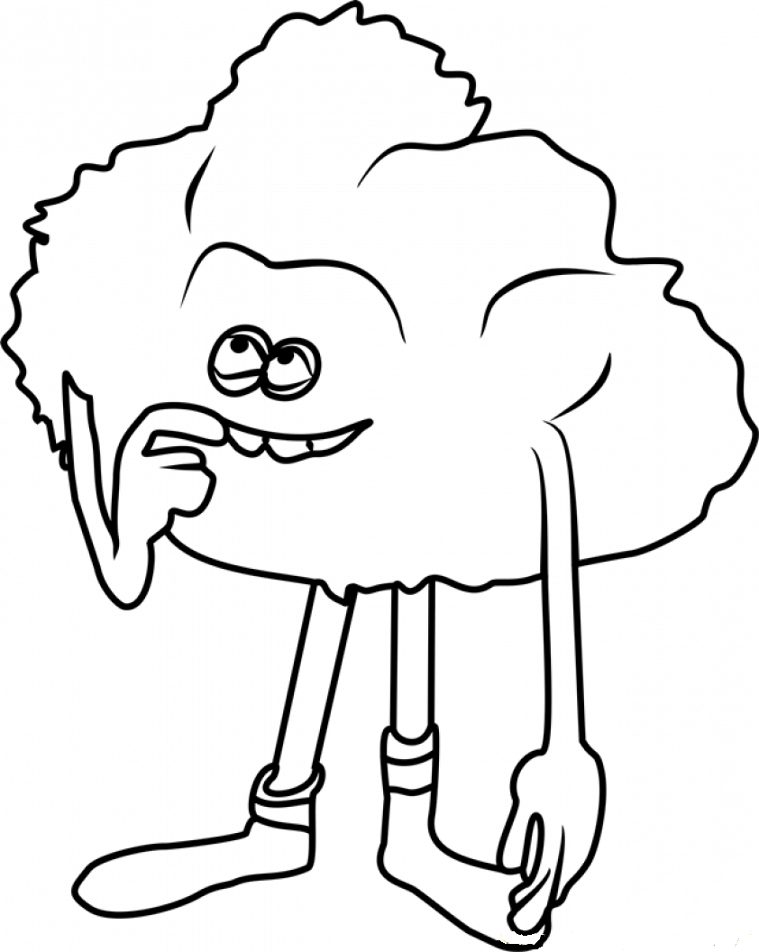 This is a graphic of Candid Troll Coloring Pages To Print