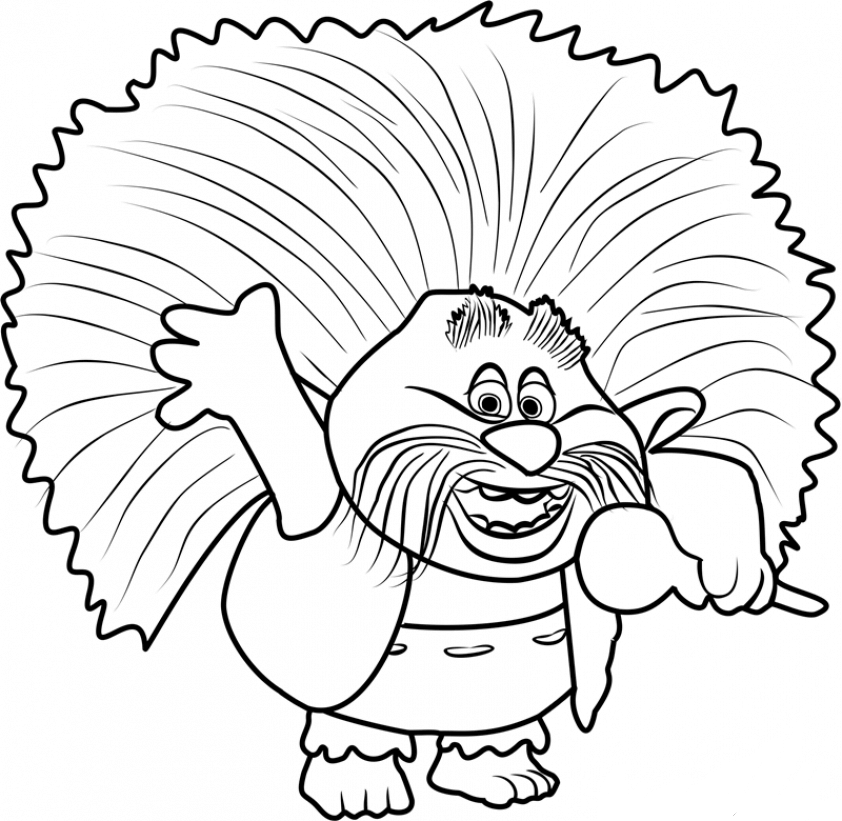King peppy trolls coloring page