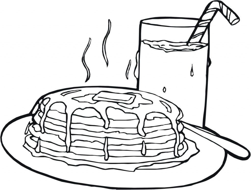 Pancakes Autumn Or Fall Coloring Pages