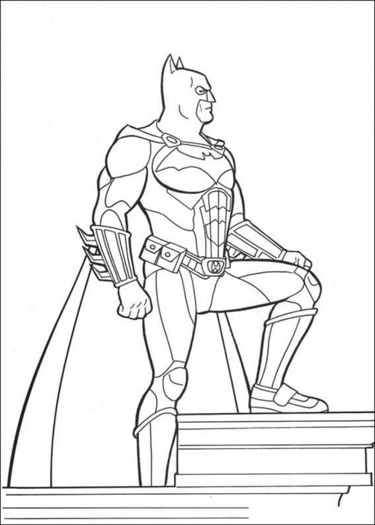 Batman Superhero Coloring Pages