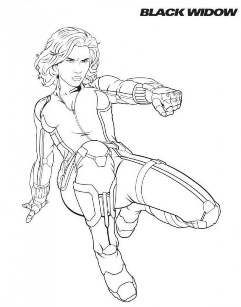 Black Widow Coloring Page