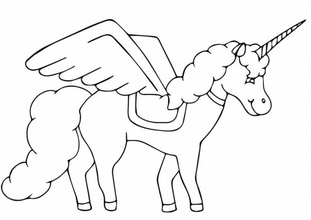 The Black Beauty unicorn coloring page