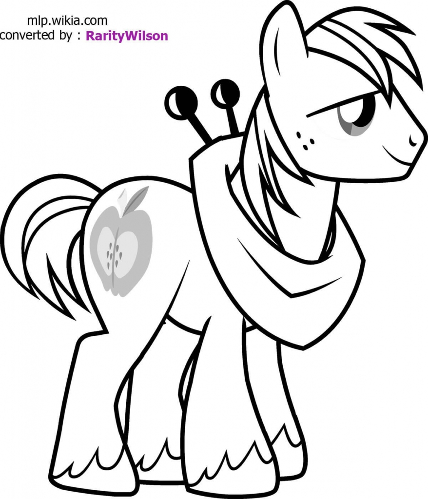 Big macintosh My Little Pony coloring page