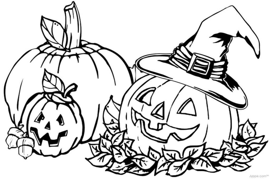 Jack-O-Lanterns Autumn Or Fall Coloring Pages