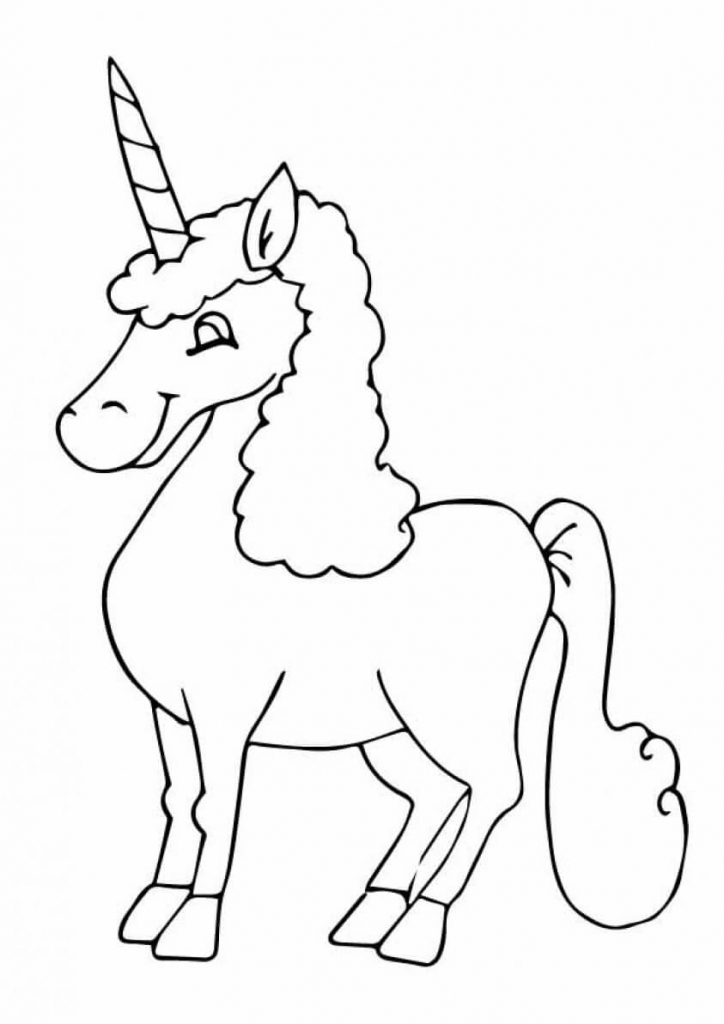 Reem unicorn coloring page