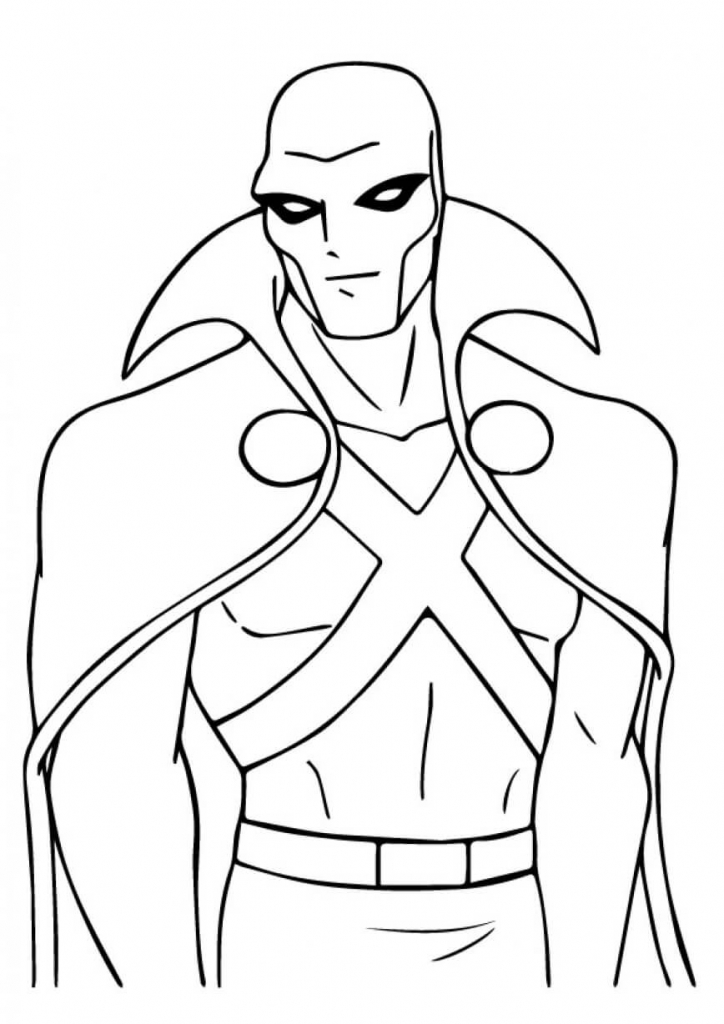 Martian The Manhunter Superhero Coloring Pages