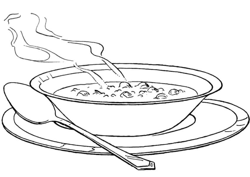 A Bowl Soup Coloring Page