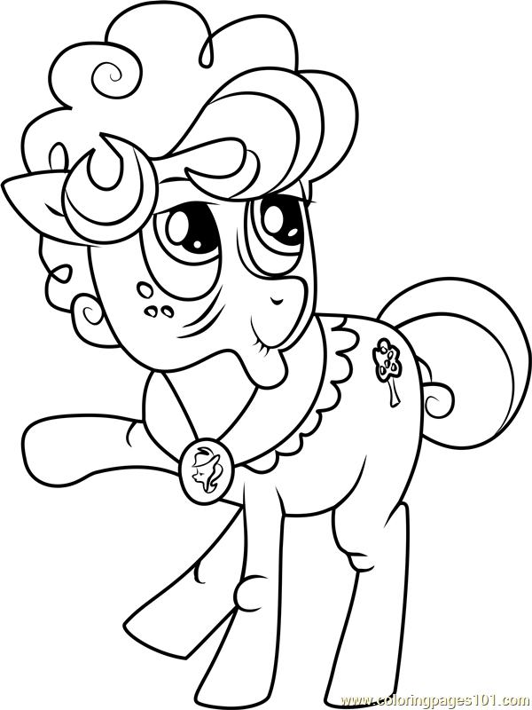 Goldie-Delicious My Little Pony coloring page
