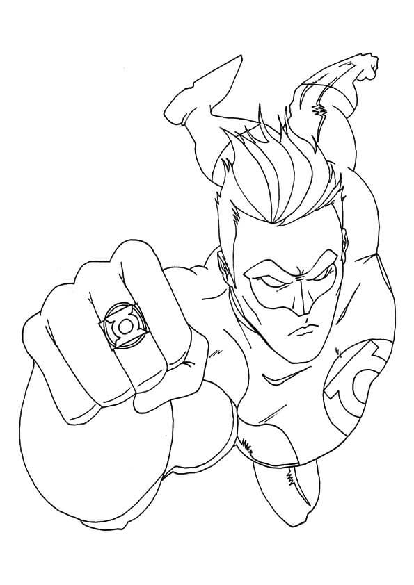 Superhero Hal Jordan Coloring Pages