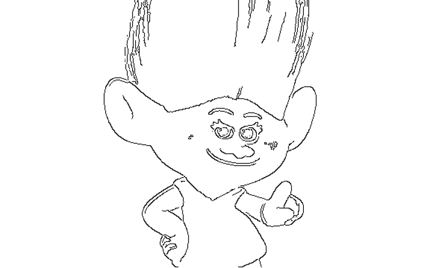 Moxie Dewdrops Trolls Coloring Page