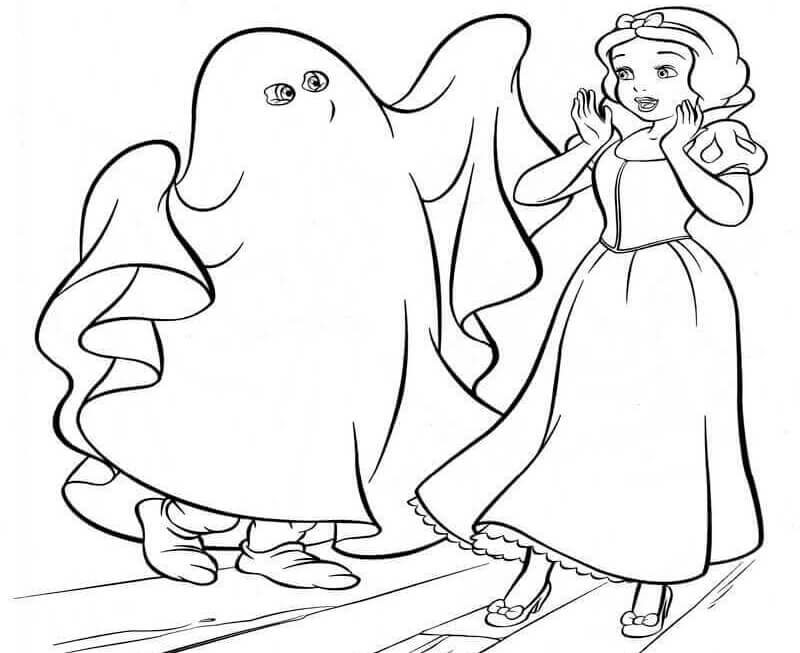 Snow White Halloween Coloring Pages
