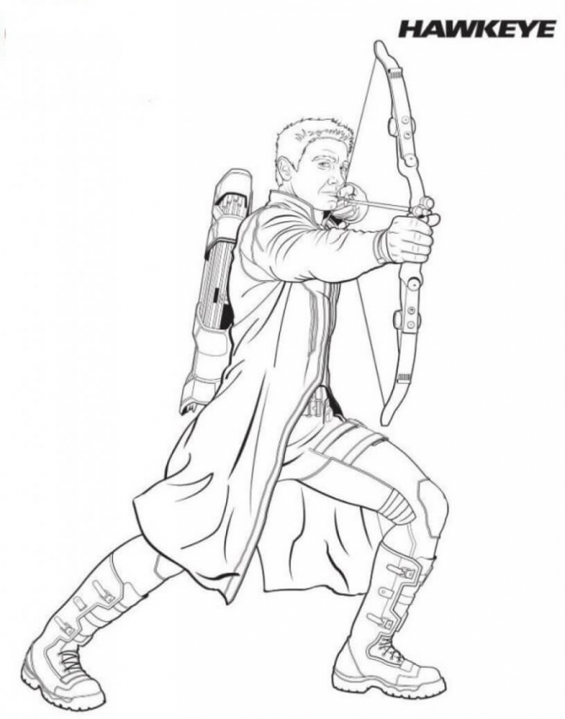 Superhero Hawkeye Coloring Pages