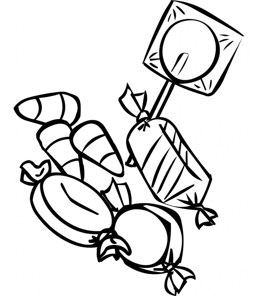 Candies Autumn Or Fall Coloring Pages