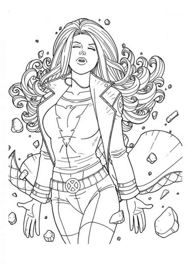Superhero Jean Grey Coloring Pages