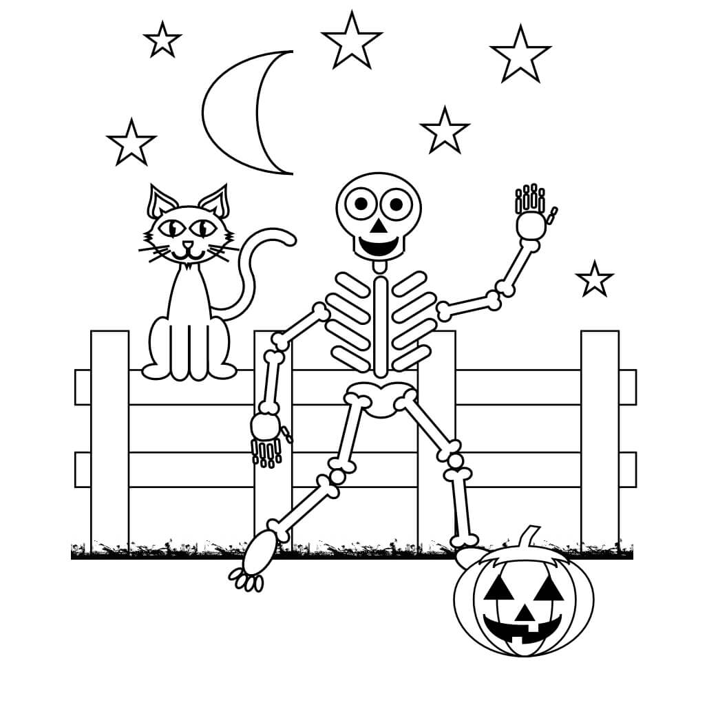 Skeleton Out Of Her Cave Coloring Page