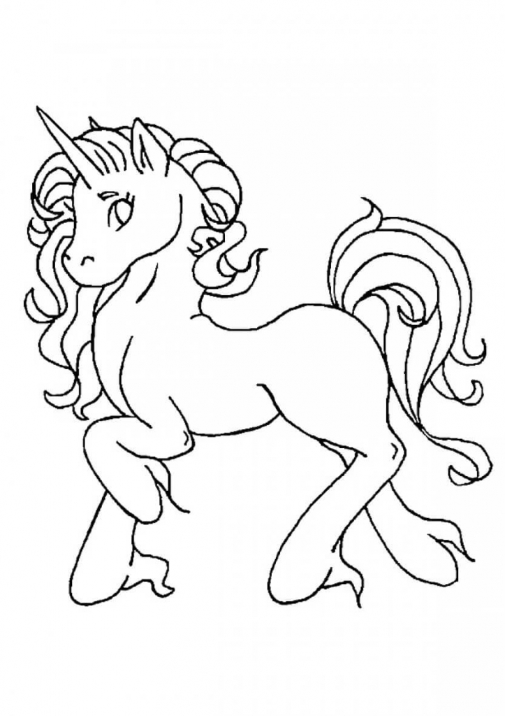 Jewel Unicorn Coloring Page