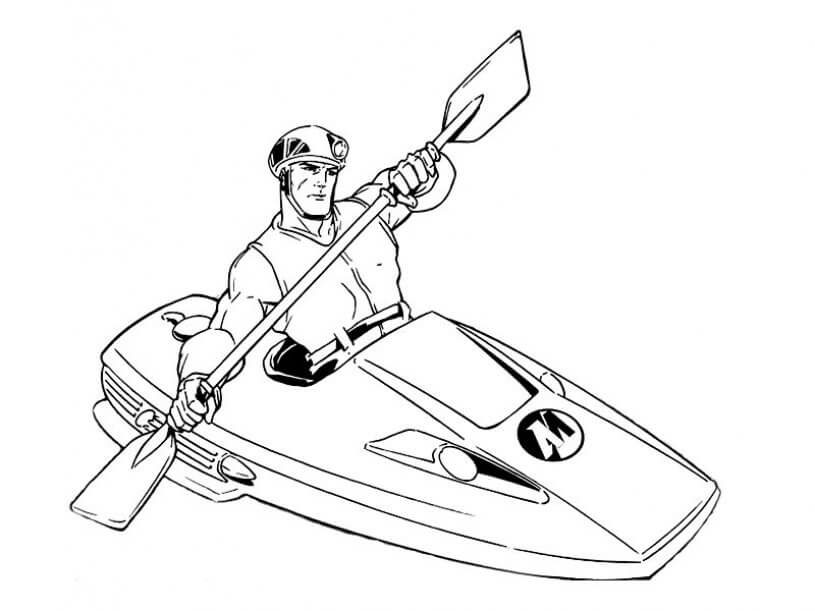 Superhero Action Man Coloring Pages