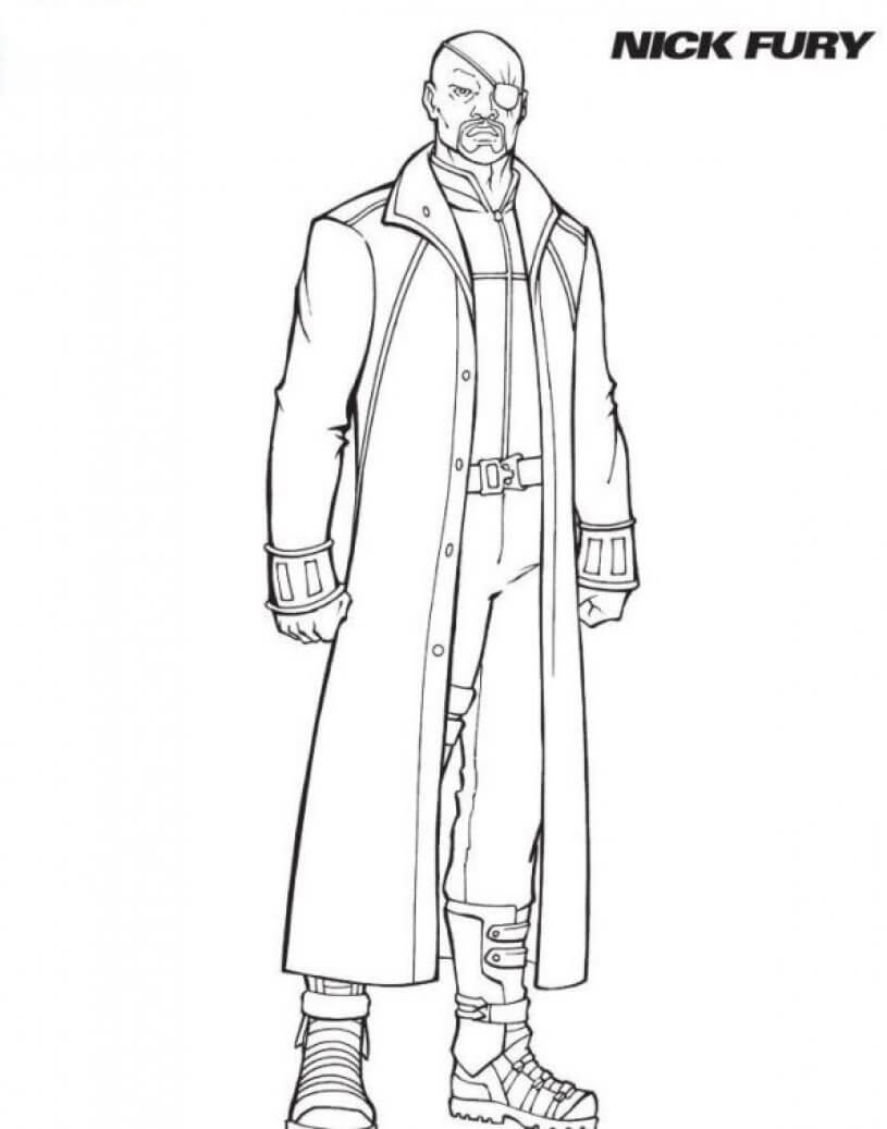 Nick Fury Coloring Page
