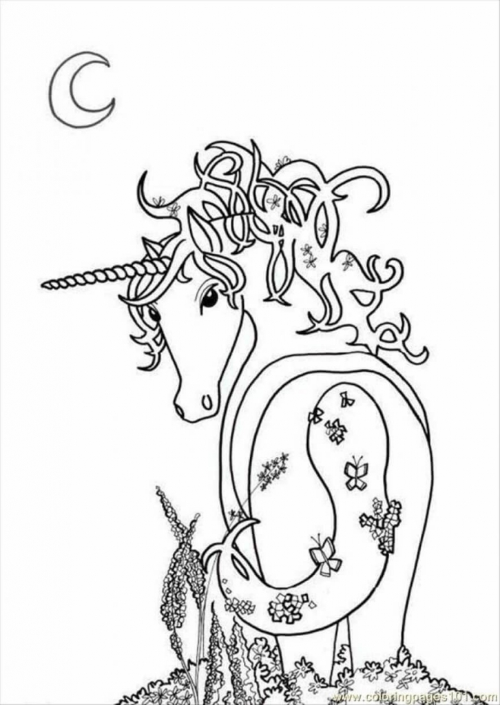 Photoready Unicorn coloring page