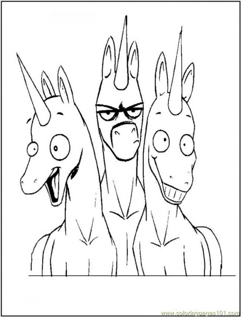Funny Unicorns coloring pages