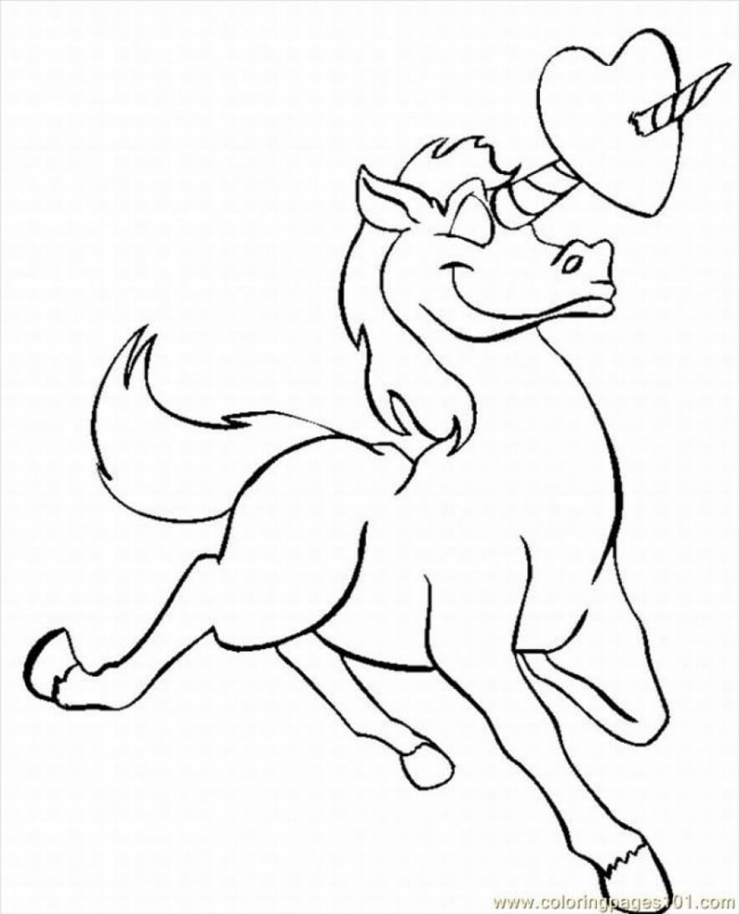 Lovestruck Unicorn coloring page
