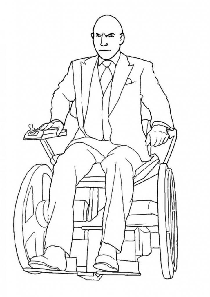 Superhero Professor X Coloring Pages