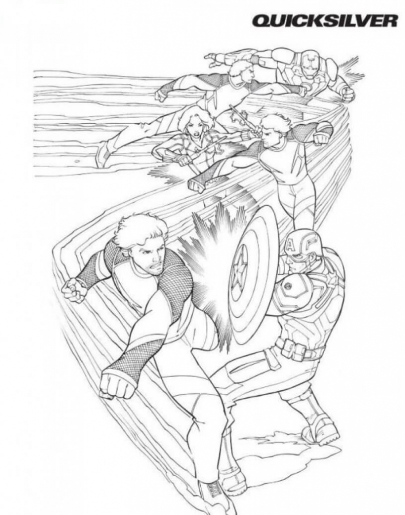 Superhero Quicksilver Coloring Pages