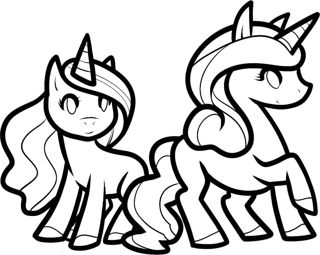 Unicorn Friends coloring page