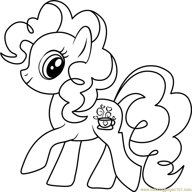 Tealove My Little Pony coloring page