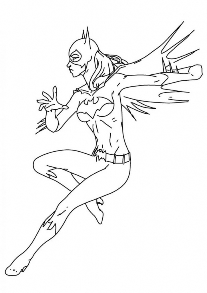 Stephanie Brown Batgirl Coloring Pages