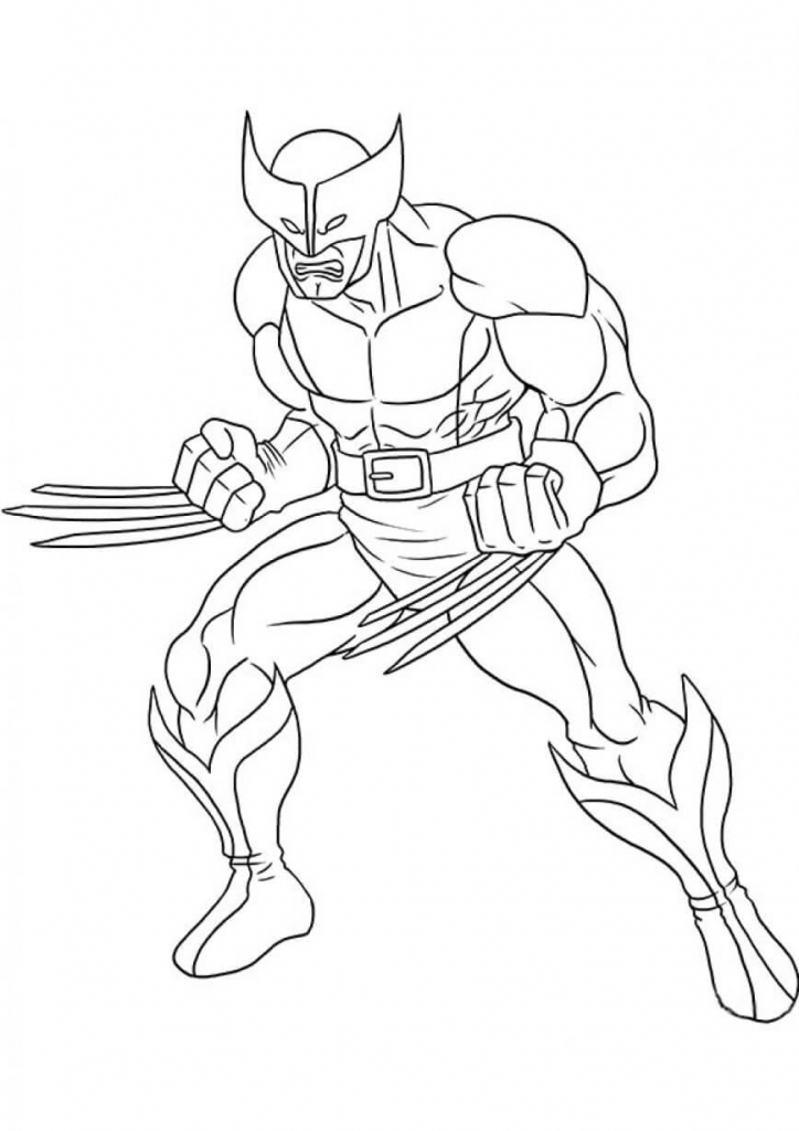 Superhero Wolverine Coloring Pages