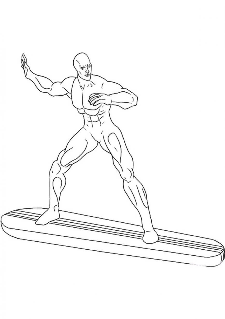 The Silver Surfer Coloring Page