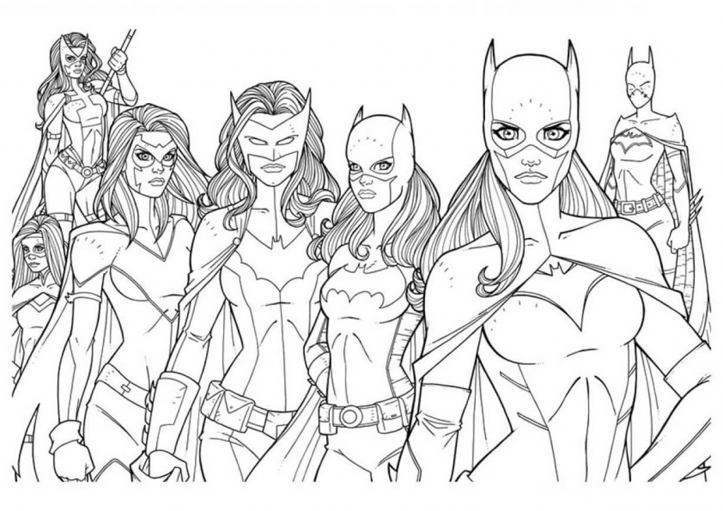 The Batgirls Coloring Pages