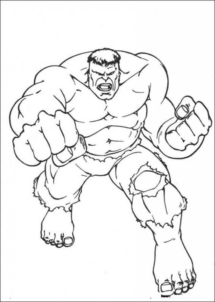 Hulk Superhero Coloring Pages