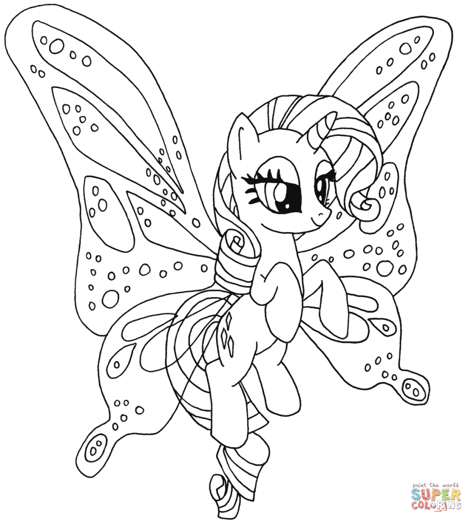 Rarity My Little Pony Coloring Page