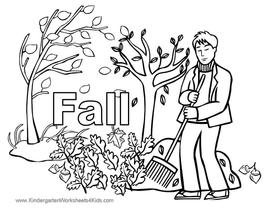 Autumn Or Fall Coloring Pages