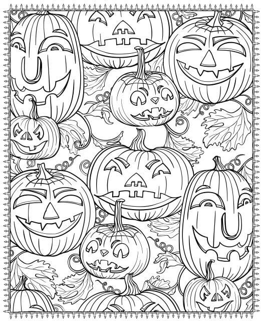 Jack o Lanterns Halloween Coloring Pages