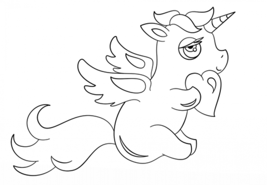 Chibi Unicorn coloring page