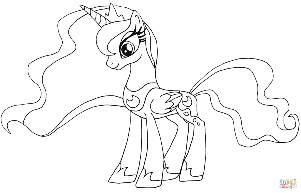 Princess Luna My Little Pony Coloring Page