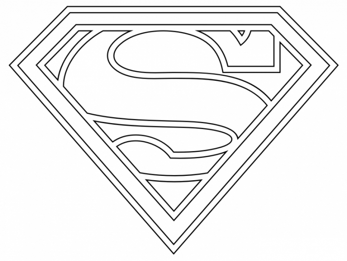 Supergirl Logo Coloring Page