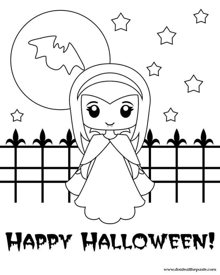 40 Free Printable Halloween Coloring