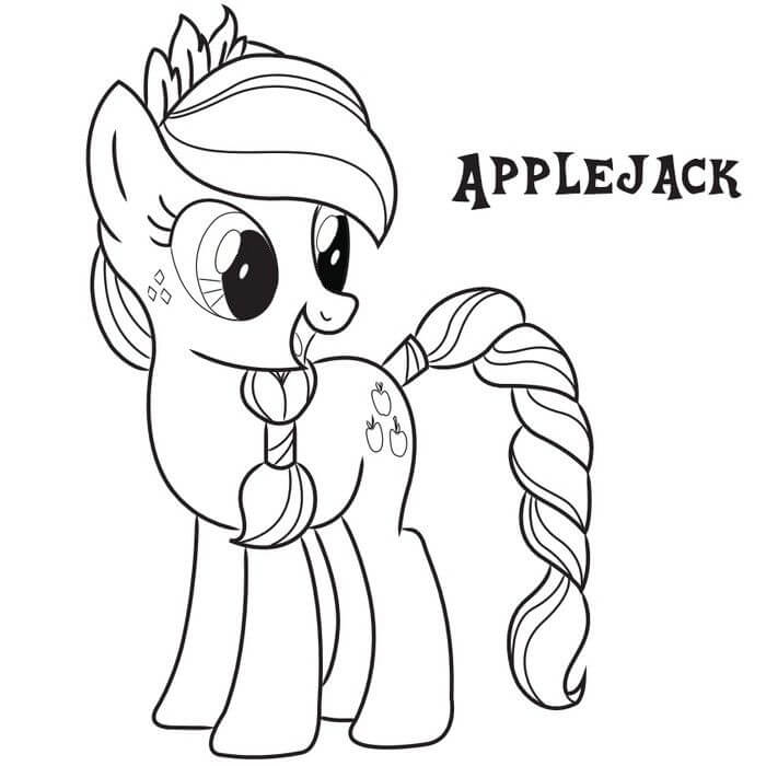 Apple Jack coloring page