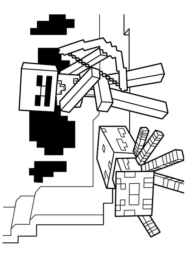 Minecraft Bow And Arrow Coloring Pages Coloring Pages