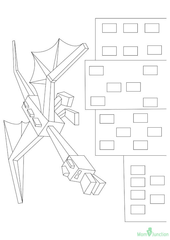 Ender Dragon Minecraft Coloring Pages